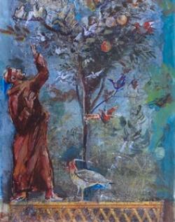 Lu santo Jullàre. predica agli uccelli. 1999